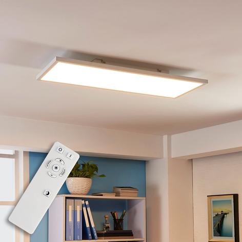 Pitkänomainen Philia LED-kattovalaisin, värinvaih.