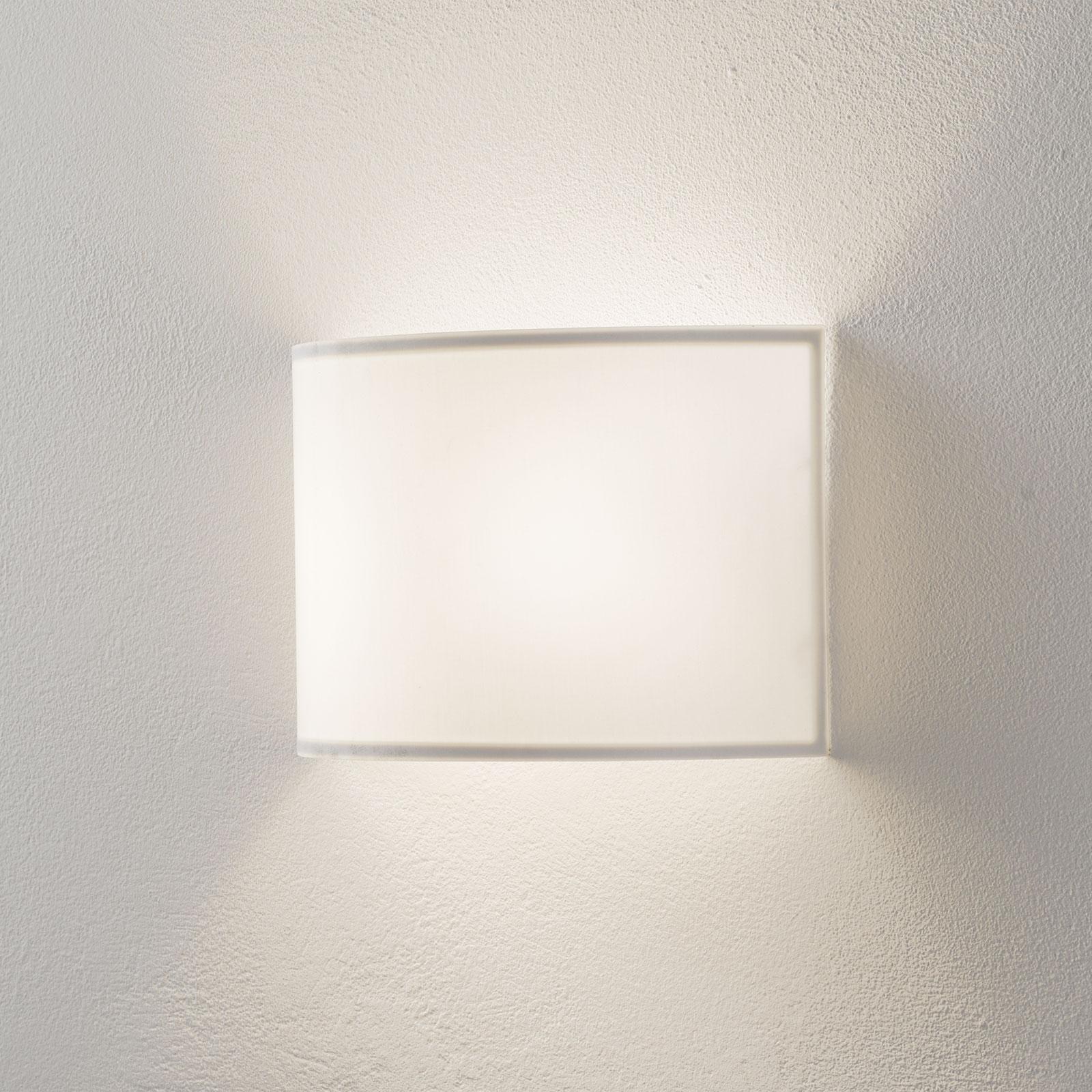 Lucande Patrik wandlamp halfrond 19cm wit