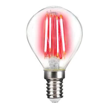 LED-pære E14 4W filament, farvet lys