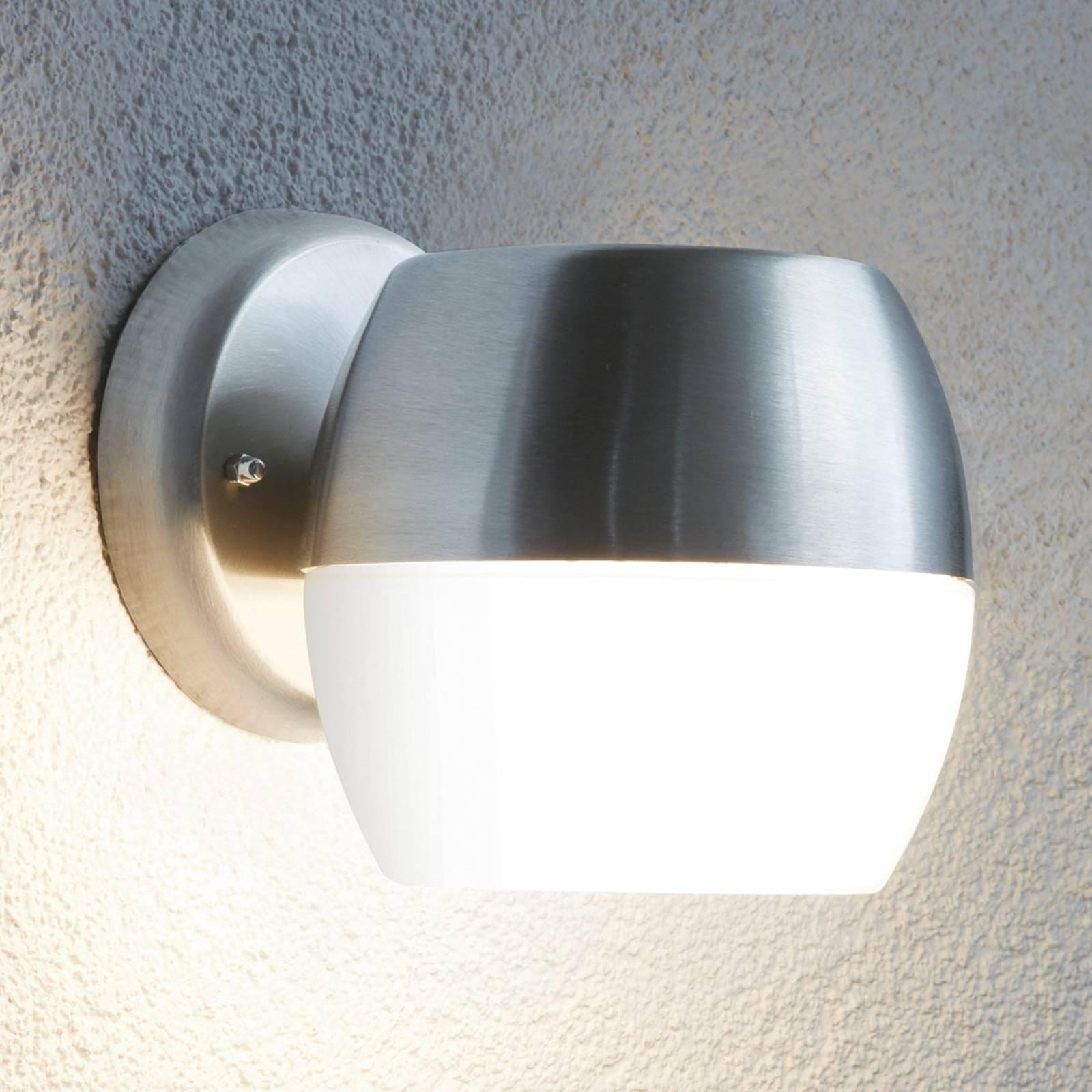 Moderne LED buitenwandlamp Oncala met glazen kap