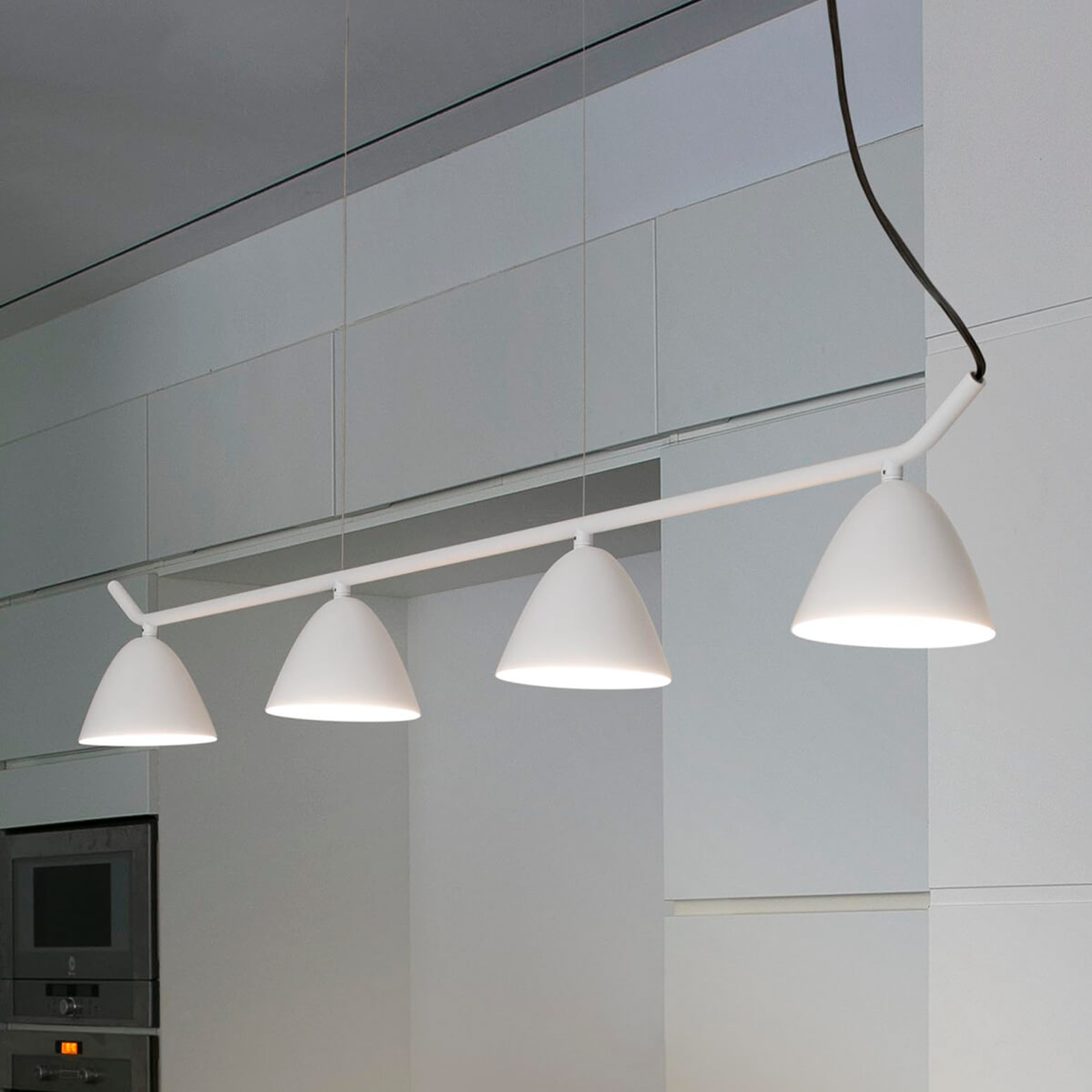 LED hanglamp Flash, wit, 4-lamps