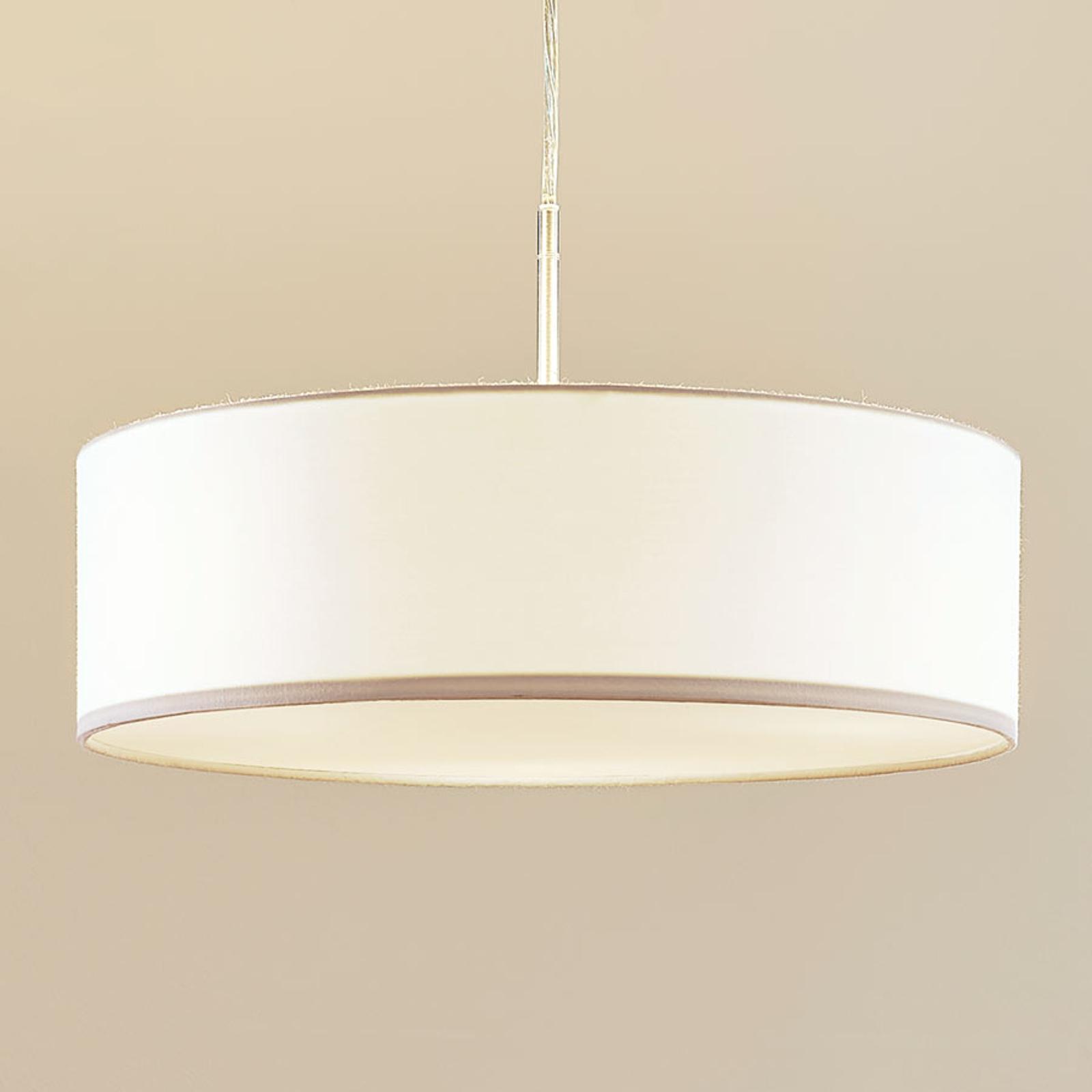 Lámpara suspendidaSebatin de tela blanca