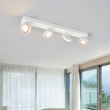 Vit LED-takspot Clockwork
