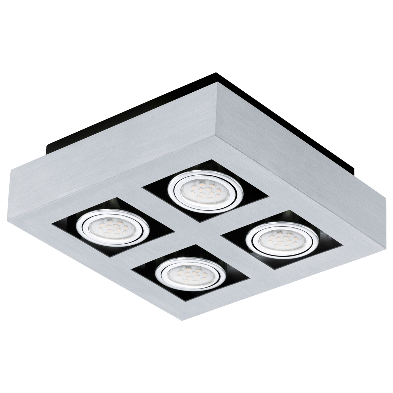 Plafoniera LED Loke a quattro luci