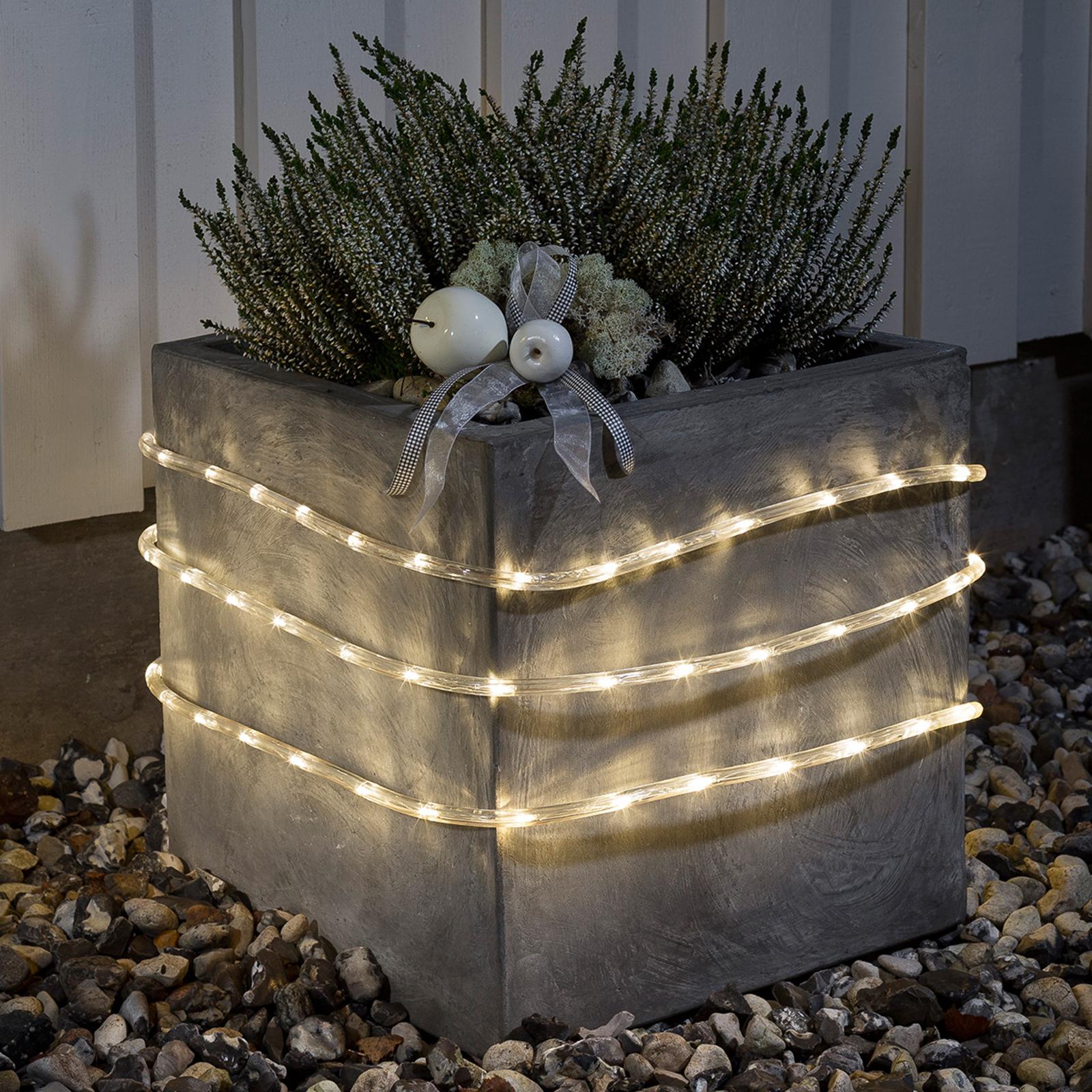 6 m. udendørs LED lysslange m. lyssensor, varmhvid