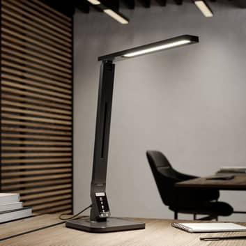 Arcchio Liano LED-skrivebordslampe, svart