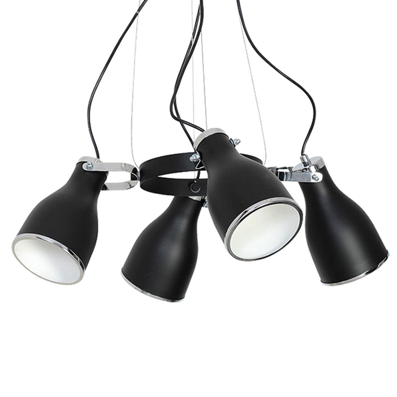 Lampa wisząca Bjorn, 4-punktowa, czarna