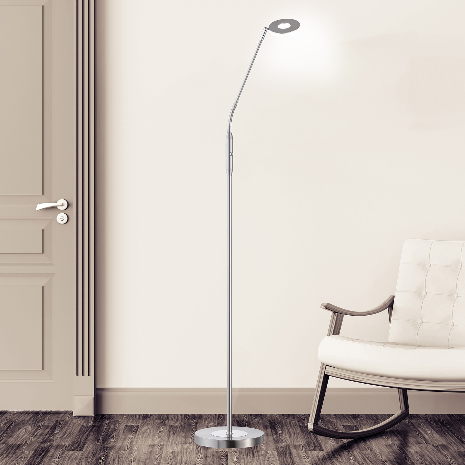 Acquista Piantana LED Dent, CCT, a 1 luce, nichel