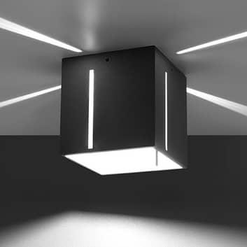 Stropní světlo Topic, pěkný světelný efekt, šedá