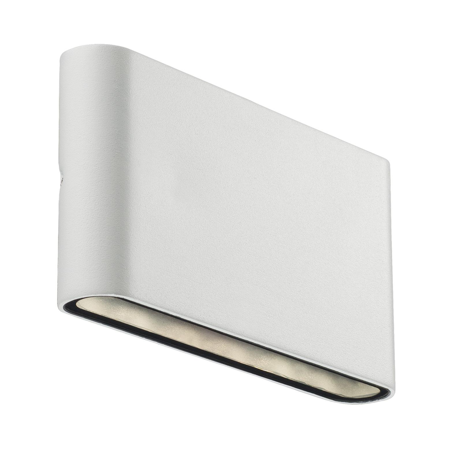LED-Außenwandleuchte Kinver in flacher Form, weiß