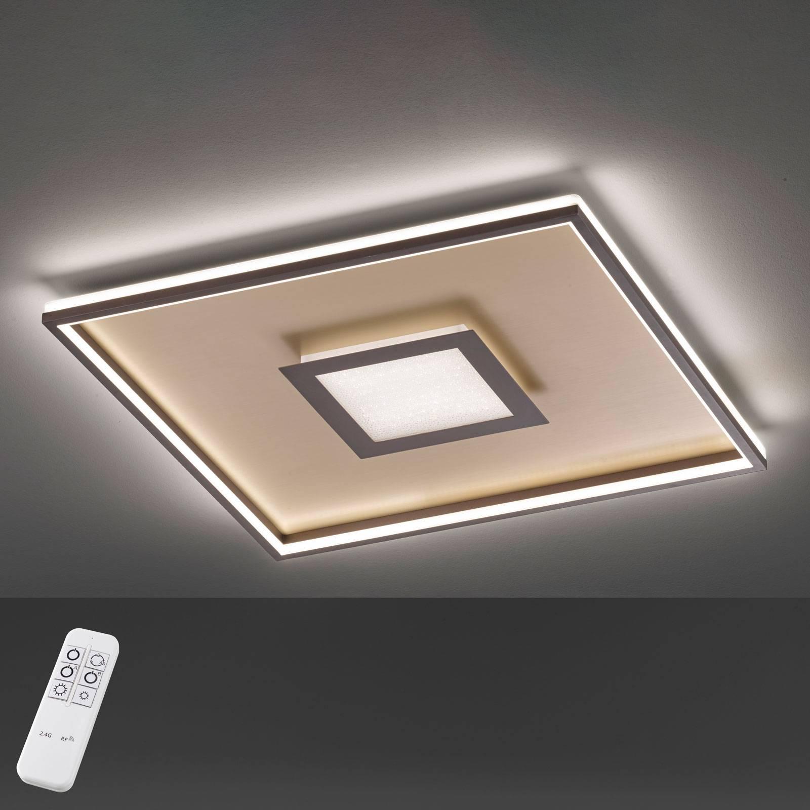 Plafonnier LED Bug carré, rouille 60x60cm
