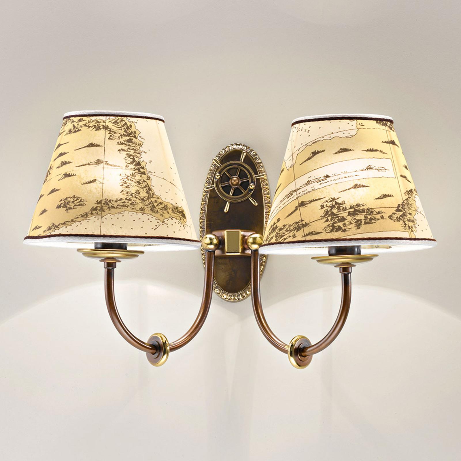 2-punktowa lampa ścienna Nautica
