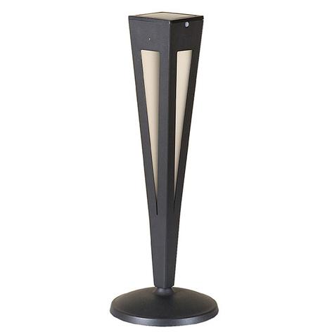 Torche solaire LED Tinka capteur, 62cm, grise