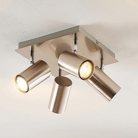 Lindby Joffrey lámpara de techo, 4 luces, níquel