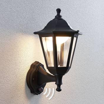 LED-utomhusvägglykta Iavo med sensor