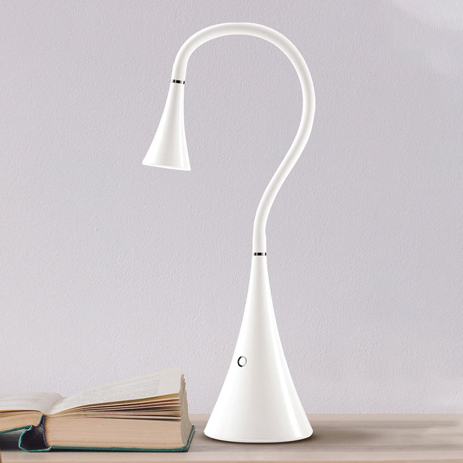 TRAE Kuki LED-skrivebordslampe, 5000K hvit