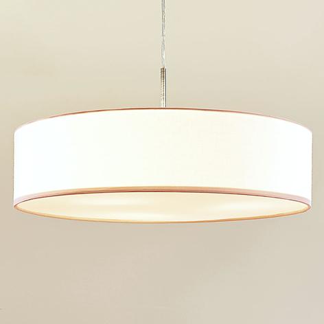 Hvit LED-pendellampe Sebatin av stoff