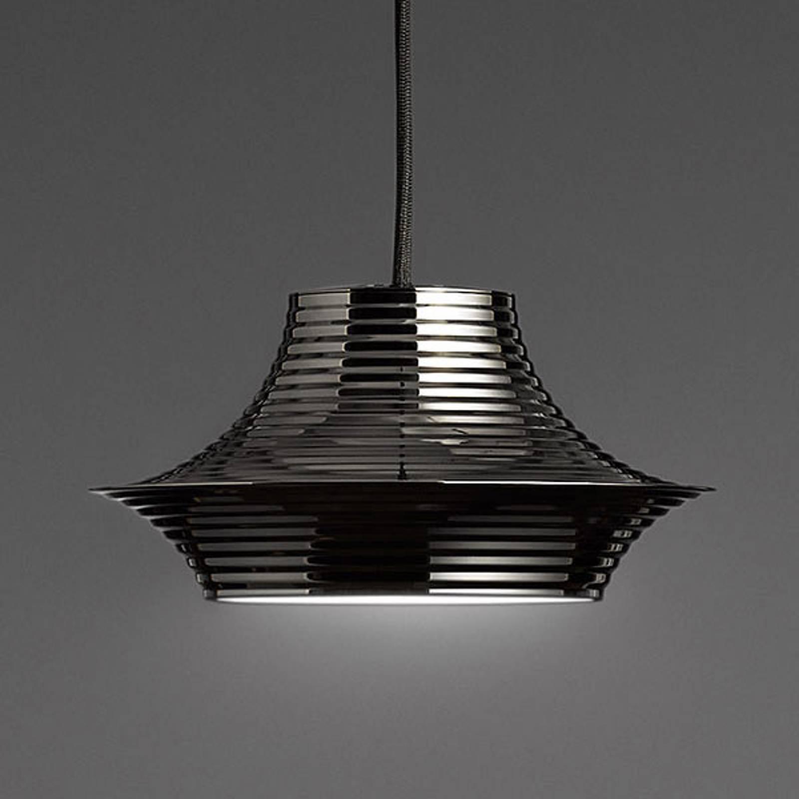 Bover Tibeta 03 - suspension LED, noire chromée