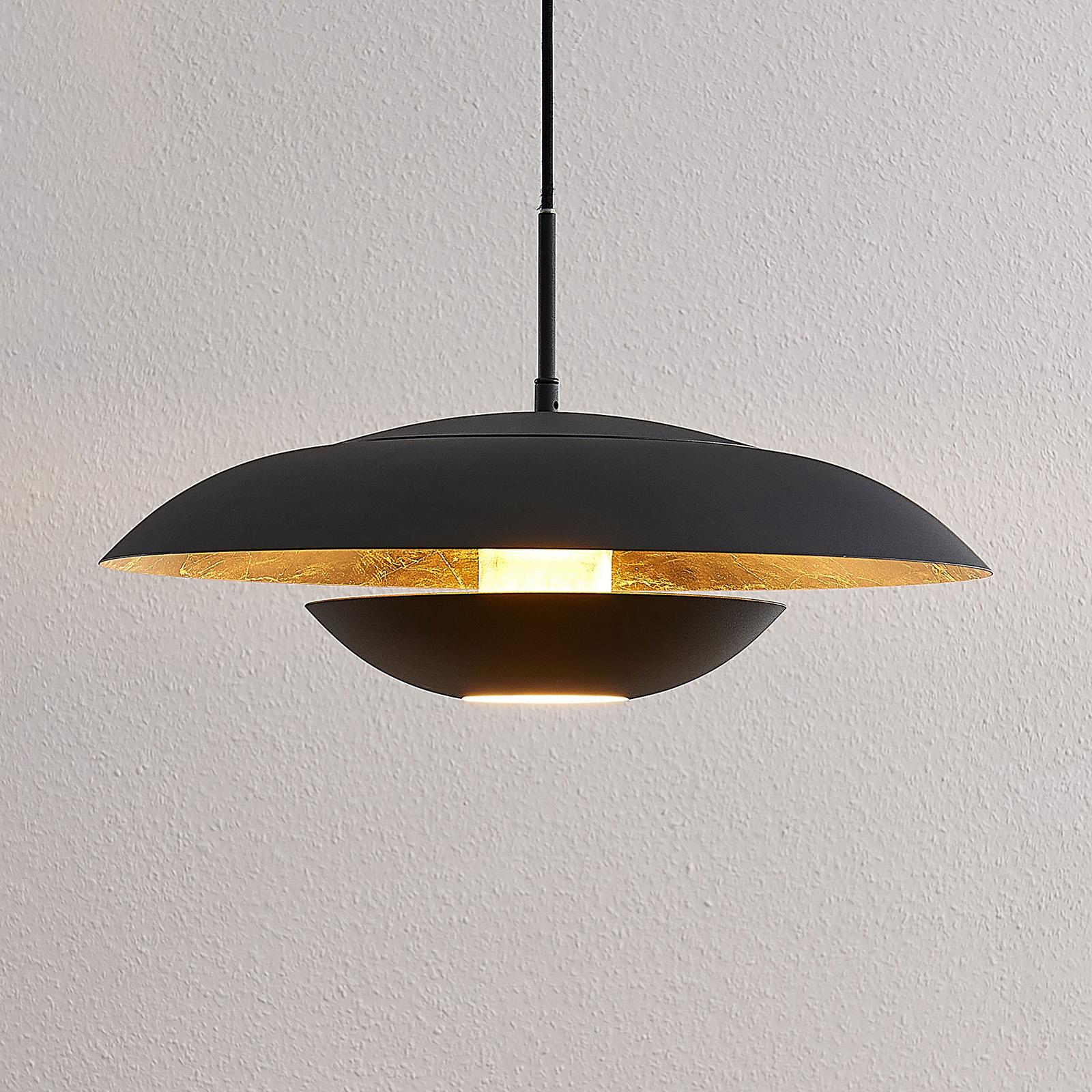 Lindby Sayra suspension métallique en noir et doré