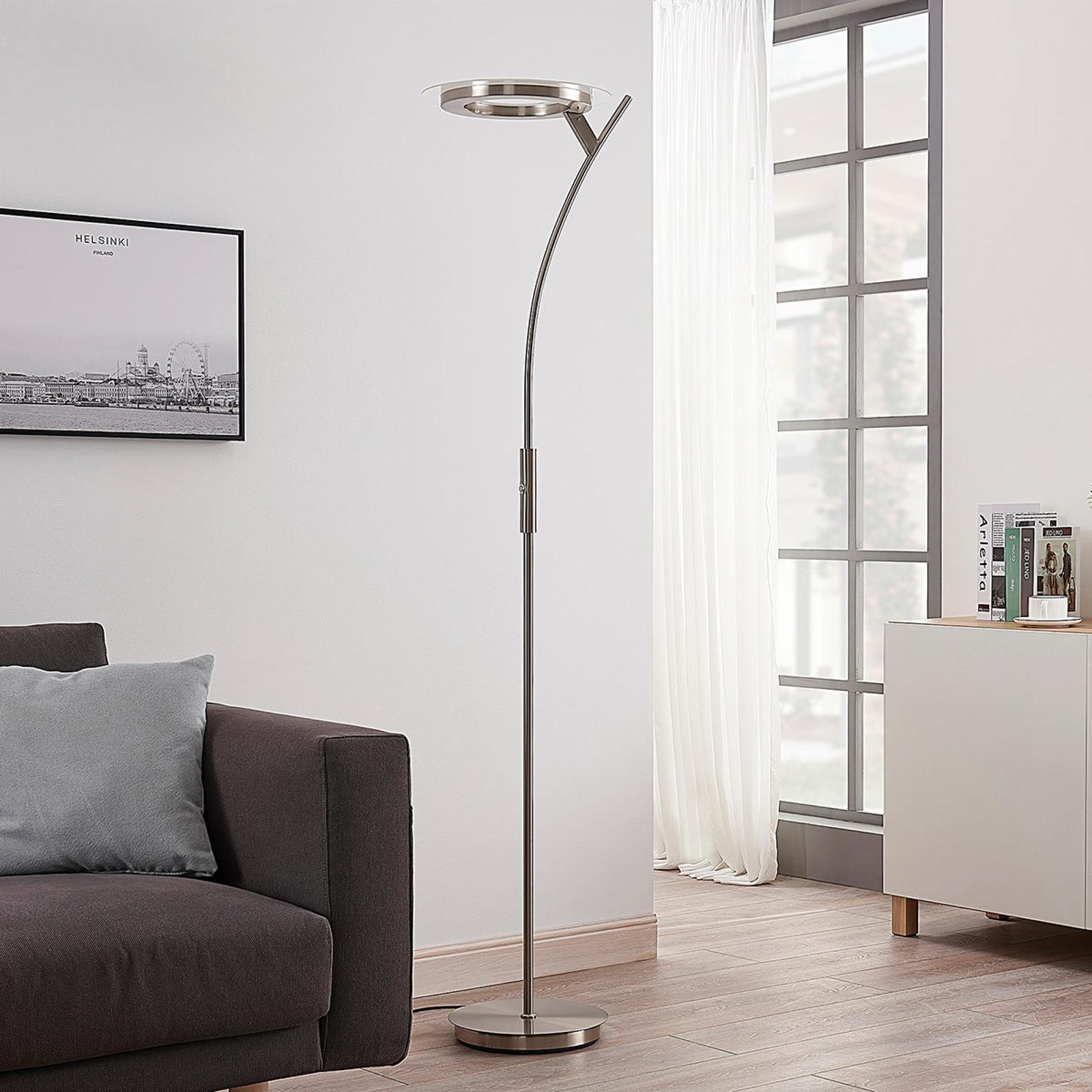 Potente lámpara LED de pie Darion con atenuador