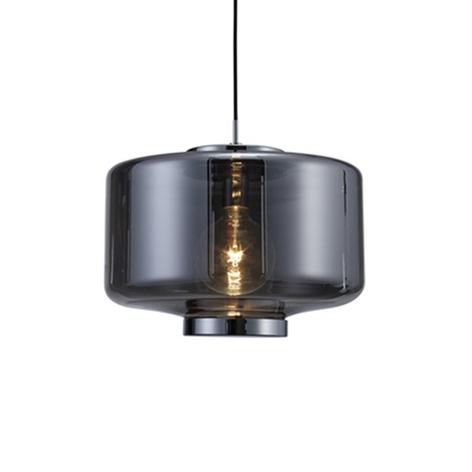 Lampada sospensione vetro Jarras Ø 40 cm, cromo