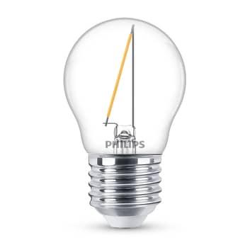 Philips LED Classic Tropfenlampe E27 P45 1,4W klar