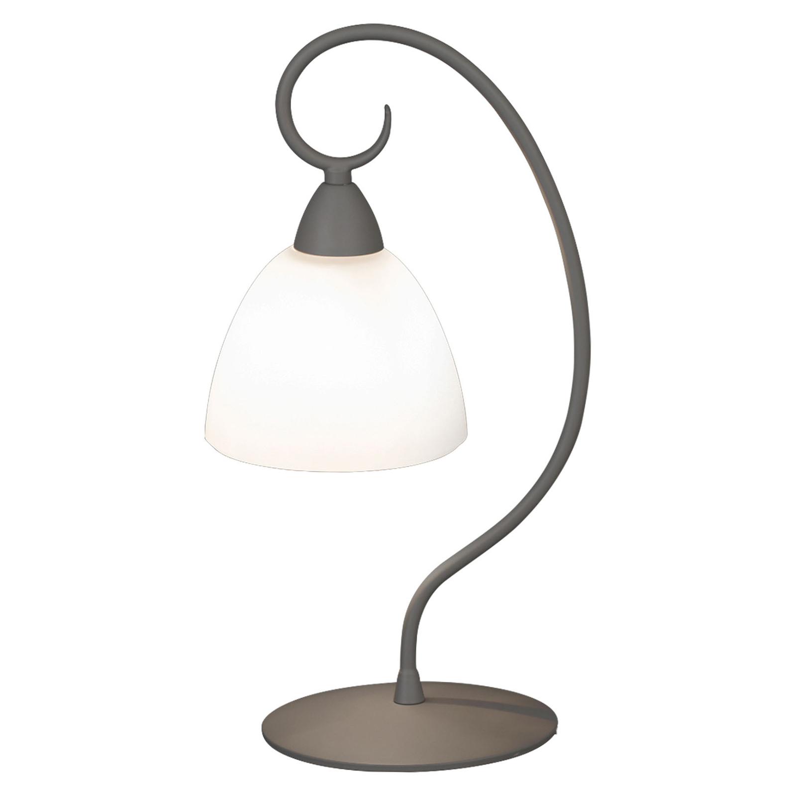 Tafellamp 1790/1L wit gesatineerd, grijs