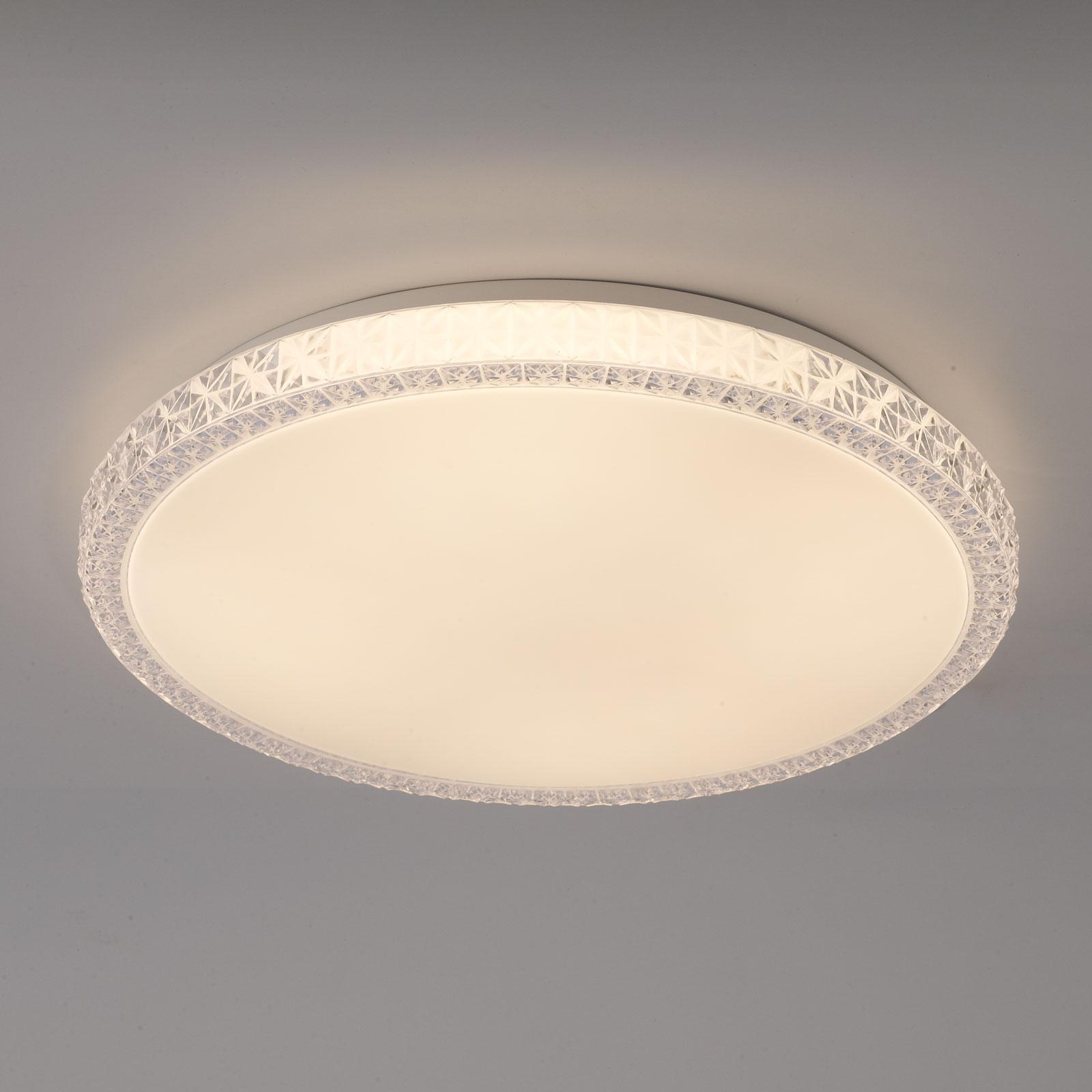 Naxos LED-taklampe, dimbar, fargevekslende hvit