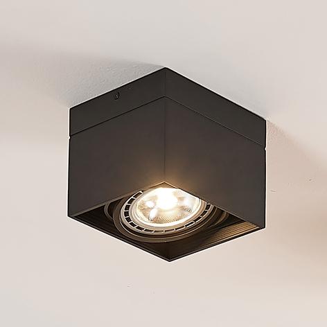 Foco de techo LED Michonne en negro, 1 luz