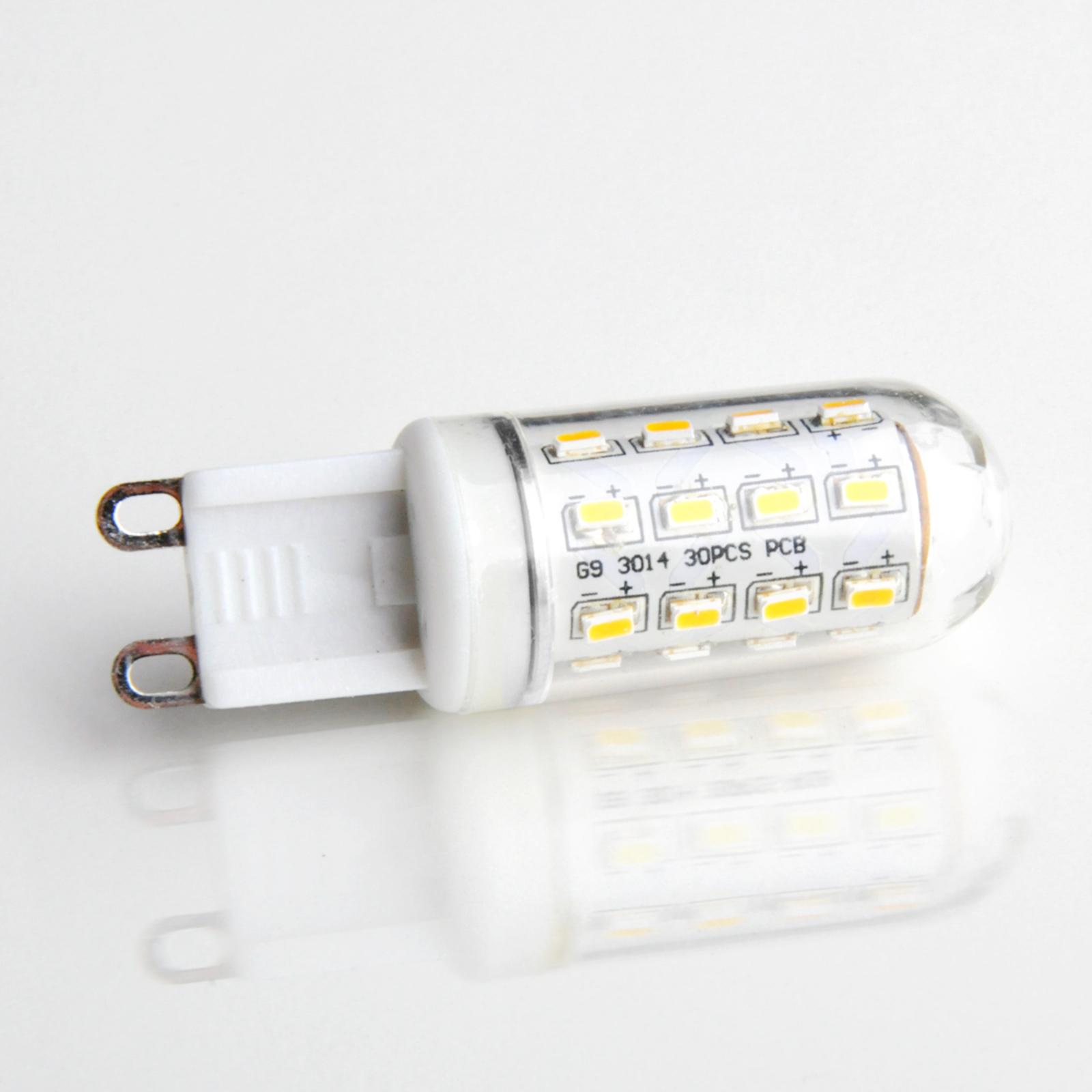G9 3W 830 LED-Lampe in Röhrenform klar