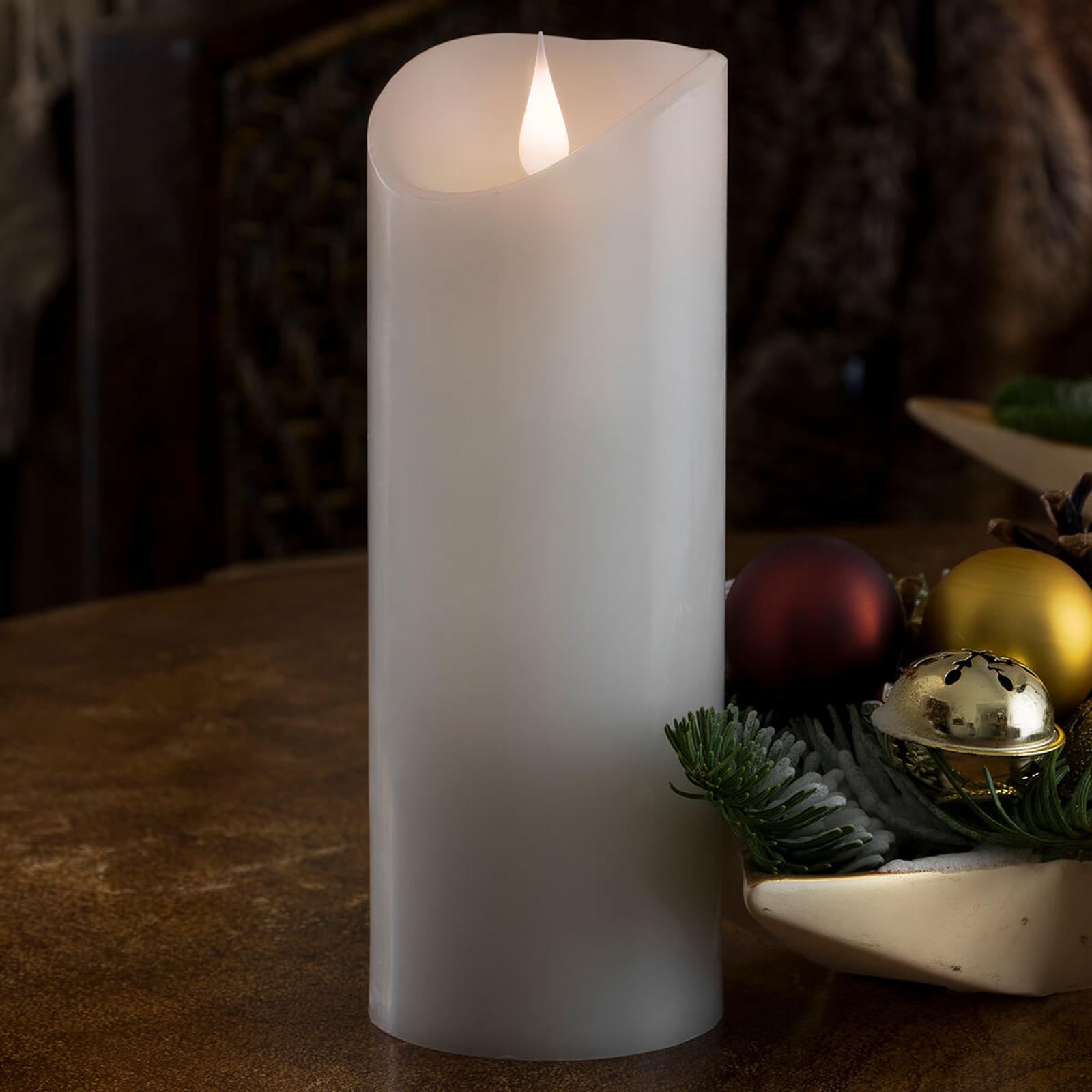 Utstyrt med 3D-flamme - LED stearinlyset Naturvoks