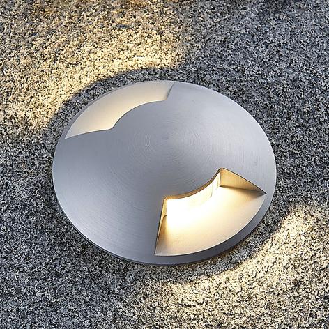 Golvinbyggnadslampa Bartosz i aluminium