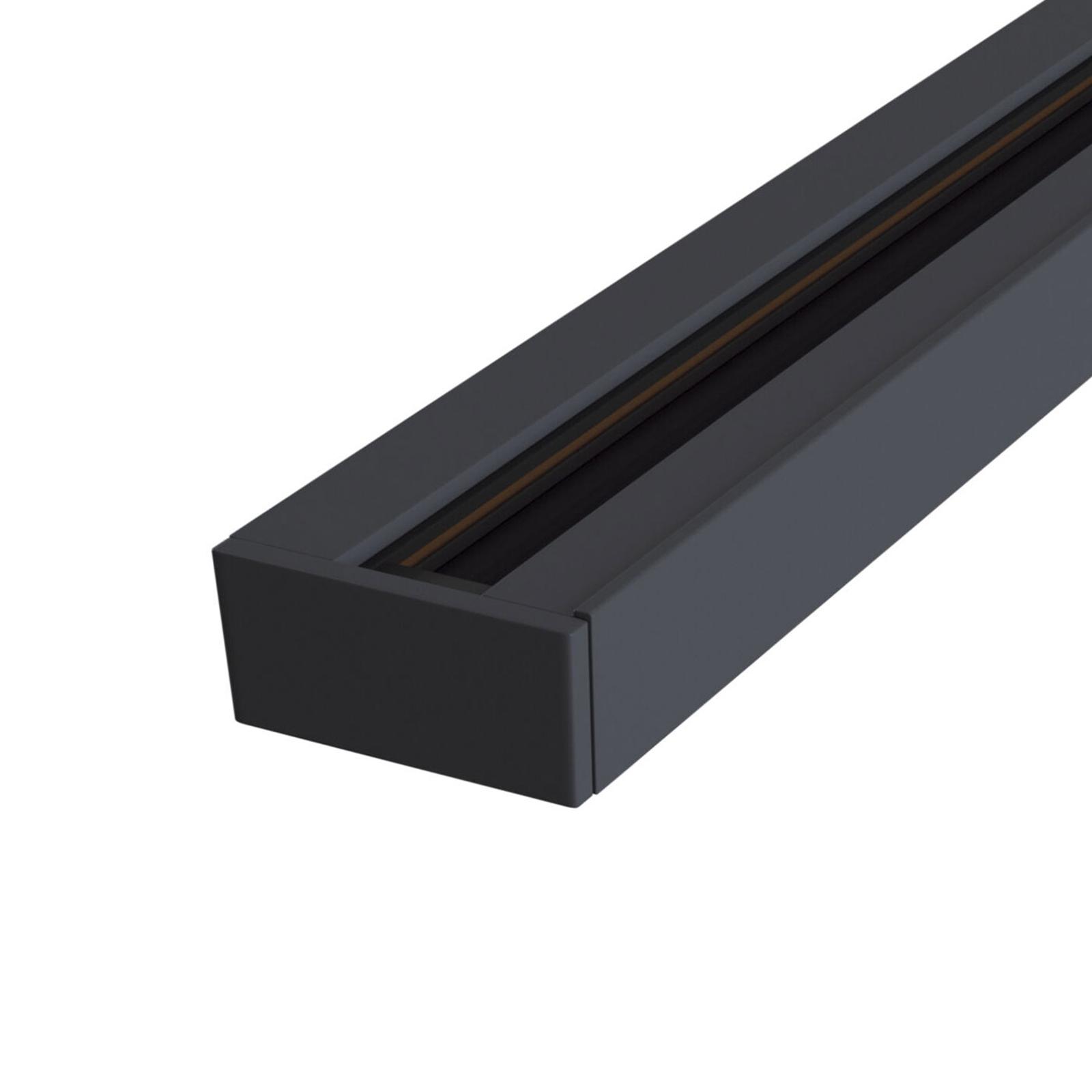 1-fazowa szyna Track czarna, 1000 mm