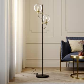 Lucande Sotiana lámpara de pie bolas vidrio latón