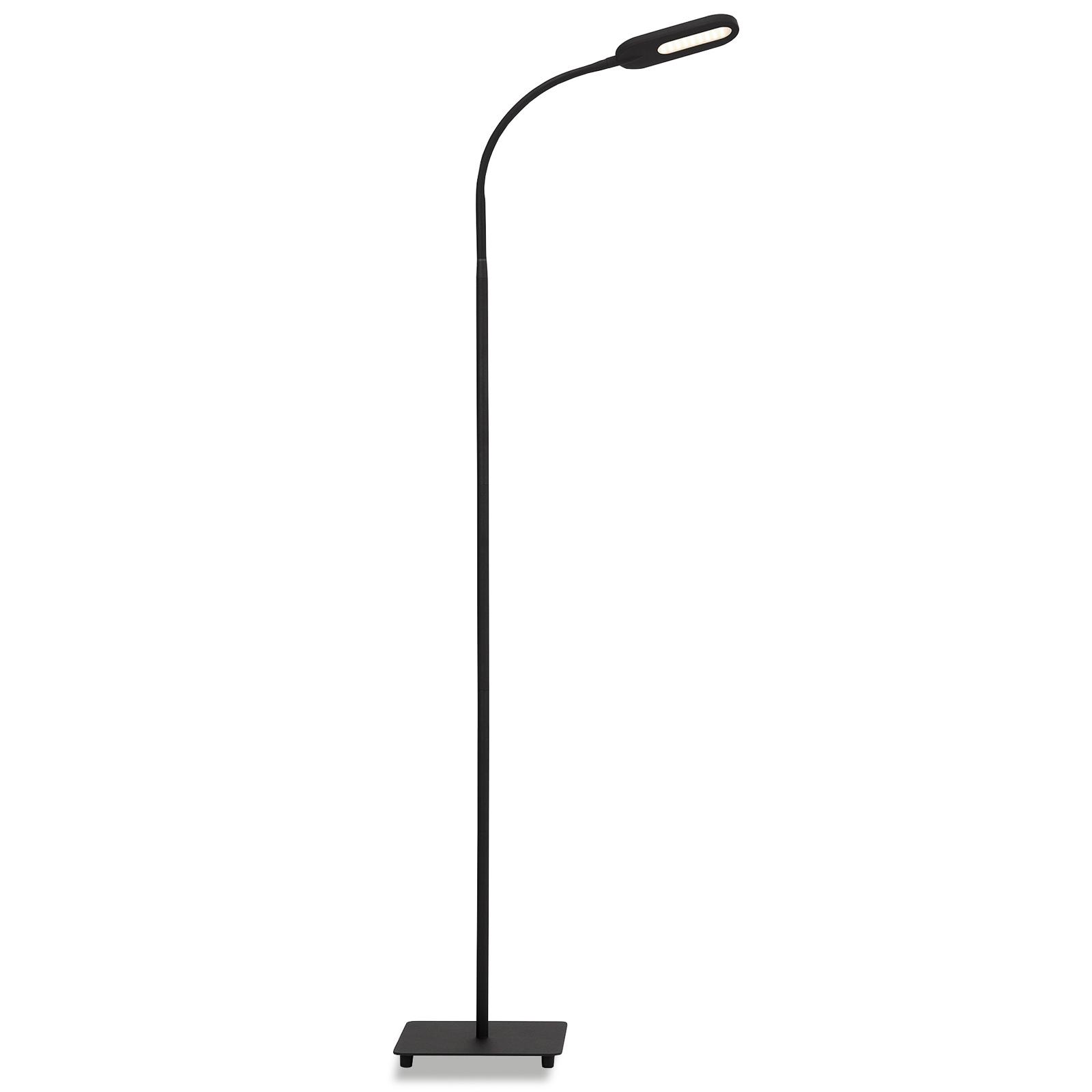 LED stojací lampa 1297-015 stmívatelná, černá