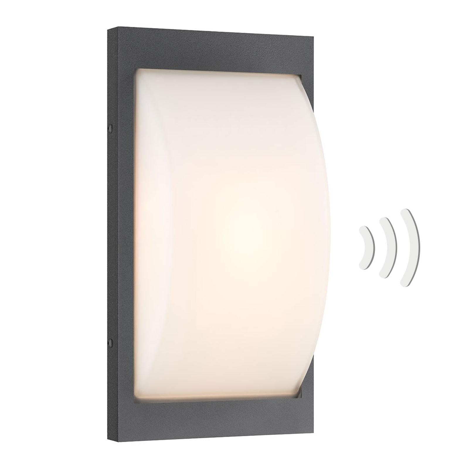 LED-utomhusvägglampa 069LEDSEN grafit