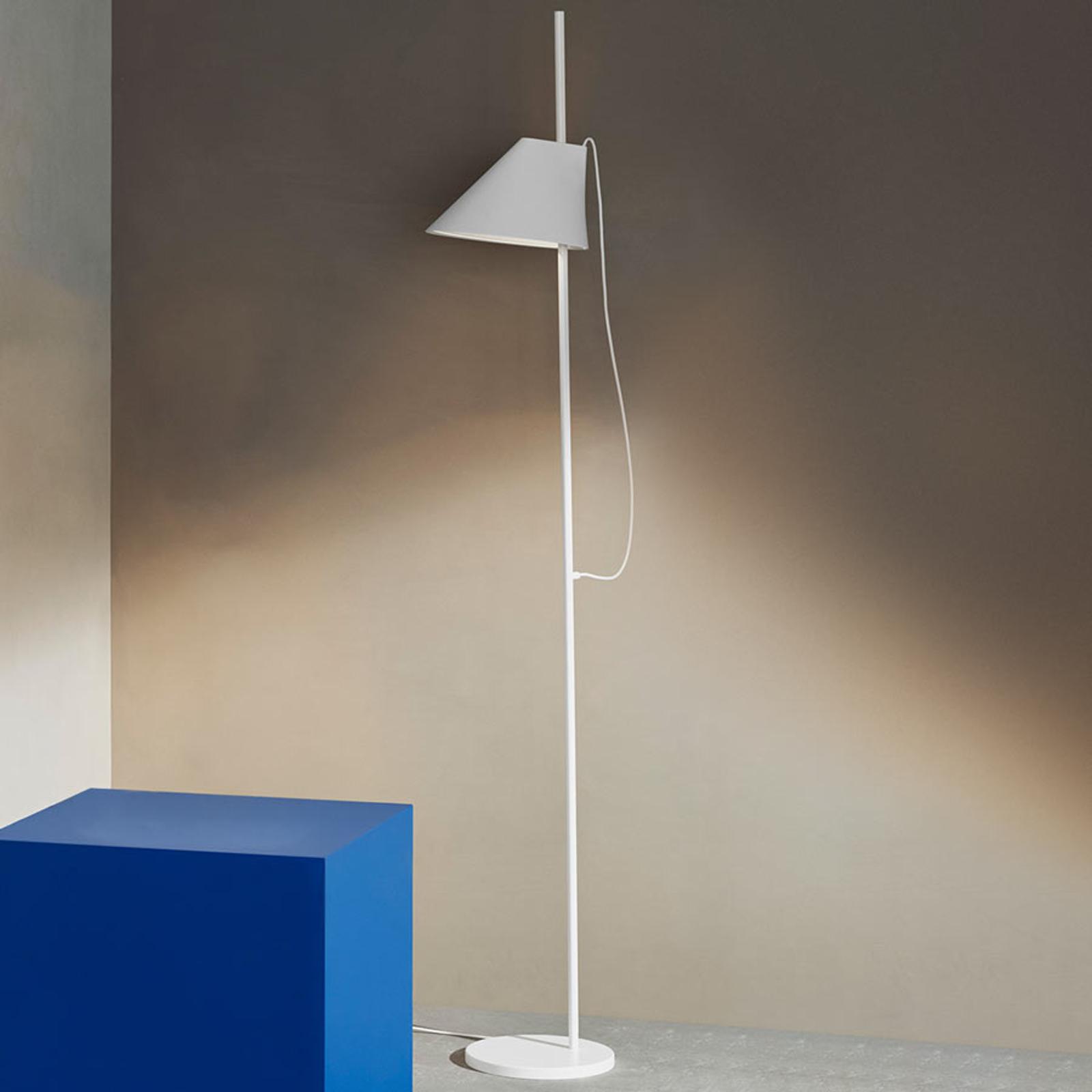 Dimbare designer LED tafellamp Yuh in wit