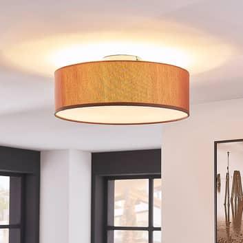 Elegant loftslampe Sebatin i lysebrun