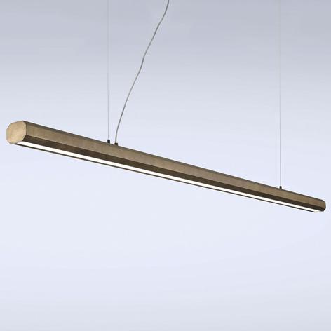 Sospensione LED Materica barra 200 cm ottone