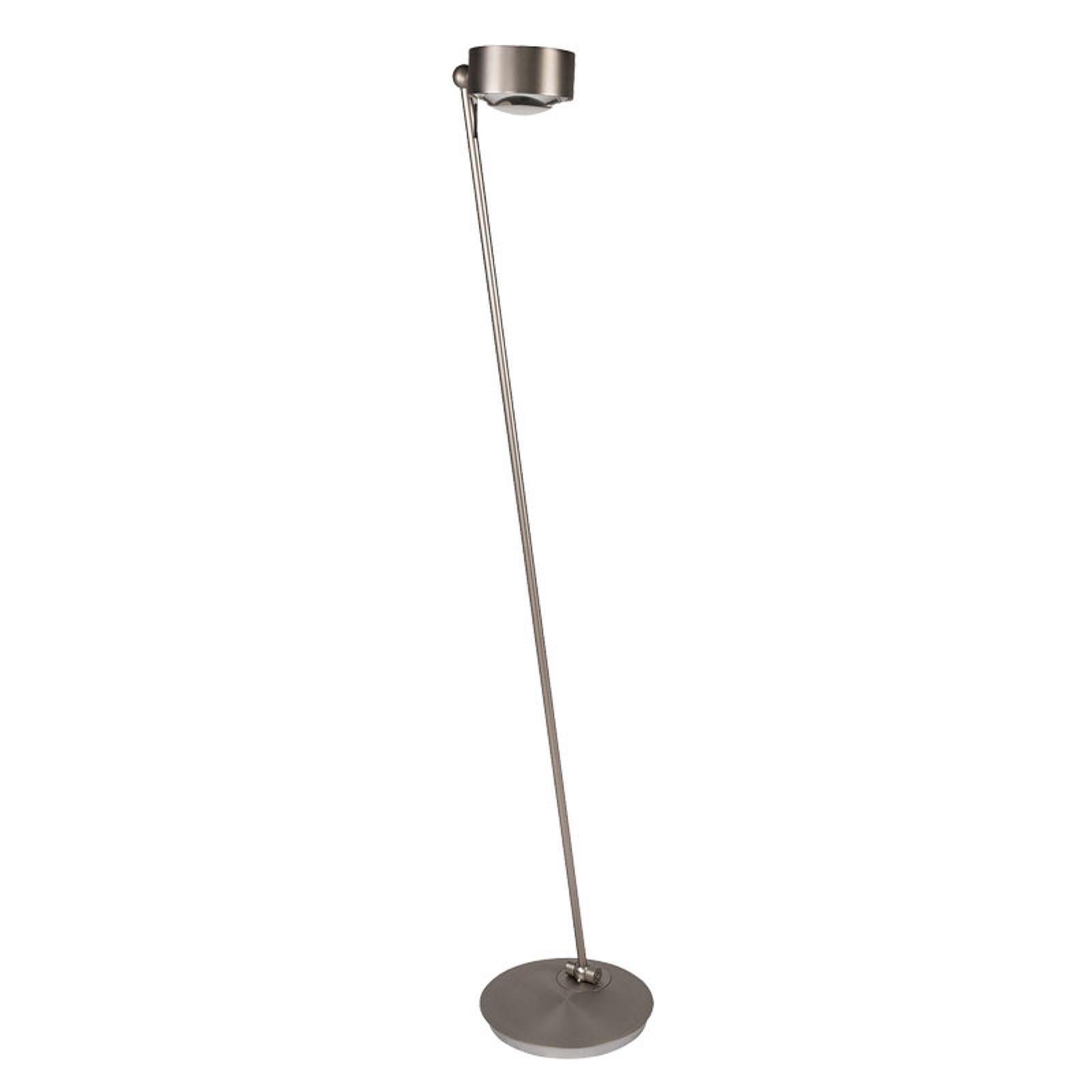 LED vloerlamp Puk Maxx Floor Mini, mat nikkel