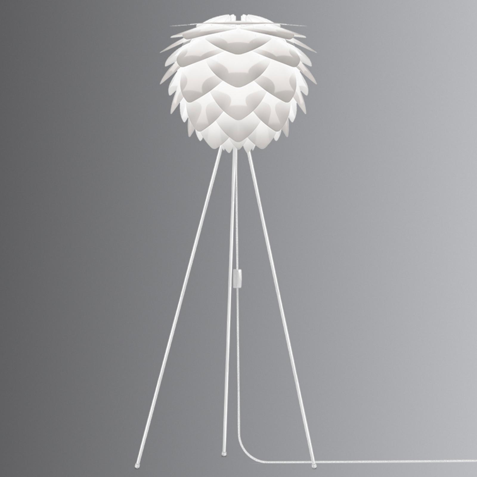 UMAGE Silvia medium lampadaire trépied blanc