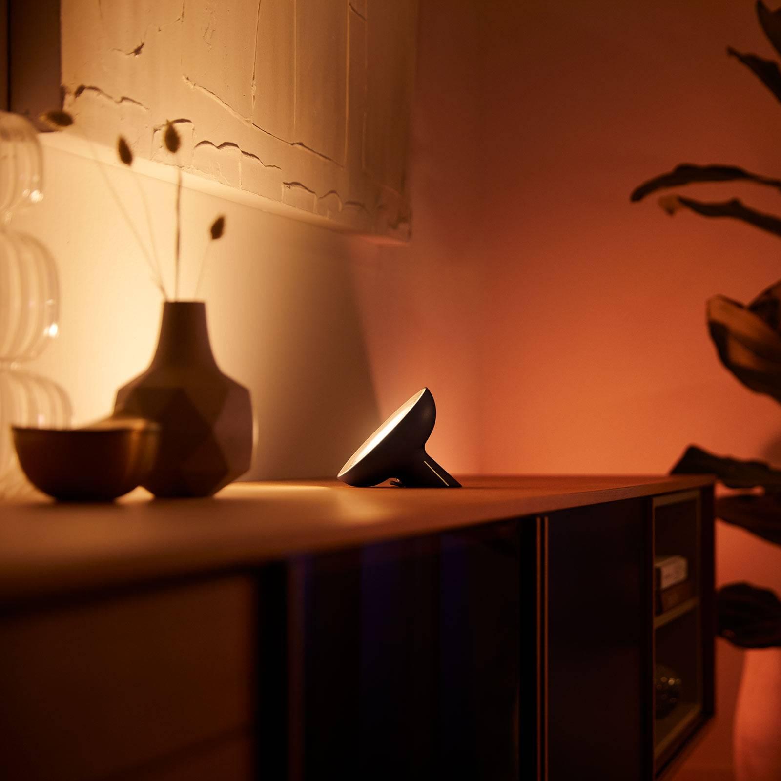 Philips Hue Bloom tafellamp zwart white & Color