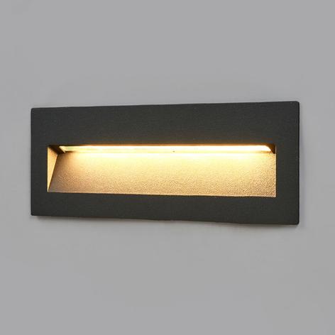 Lampe enc. LED Loya foncée, montage mural ext.