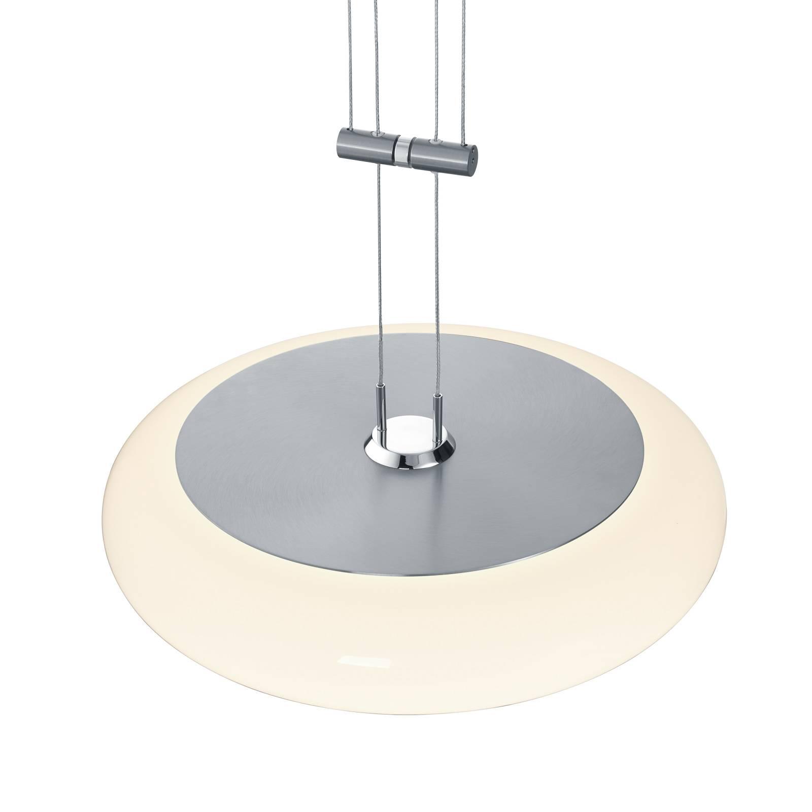 BANKAMP Centa hanglamp 1-lamp 34 cm nikkel