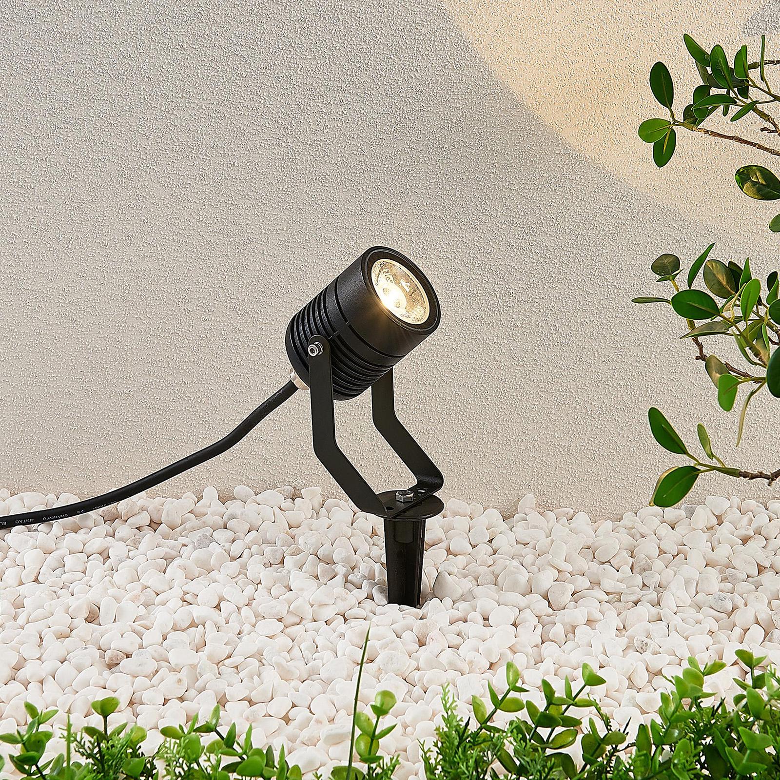 Projecteur ext. LED Maris avec piquet, IP65, noir