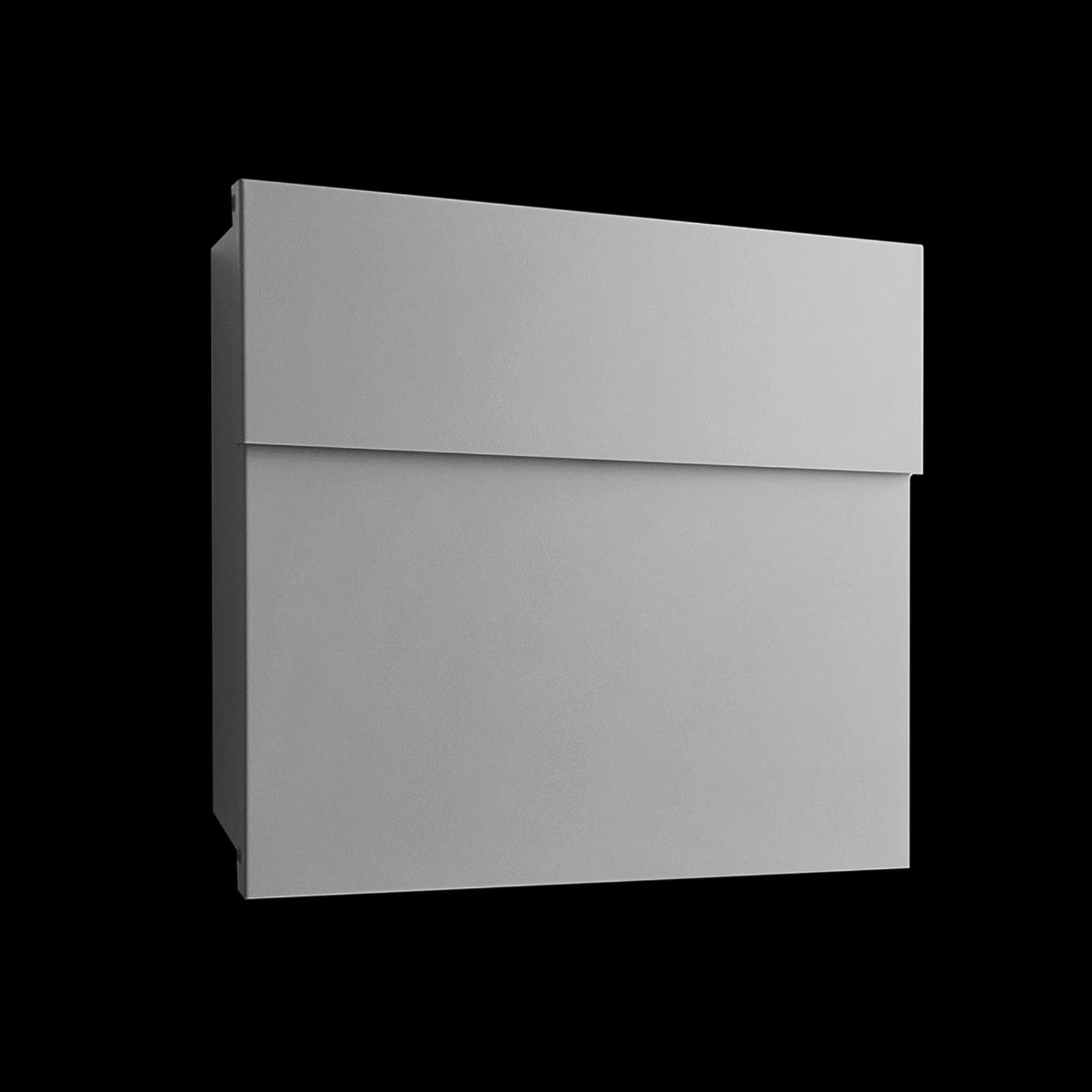 Design-brievenbus Letterman IV zilver