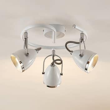 Lindby Jadon sirkelf LED-takspot hvit 3-lk. 29,7cm