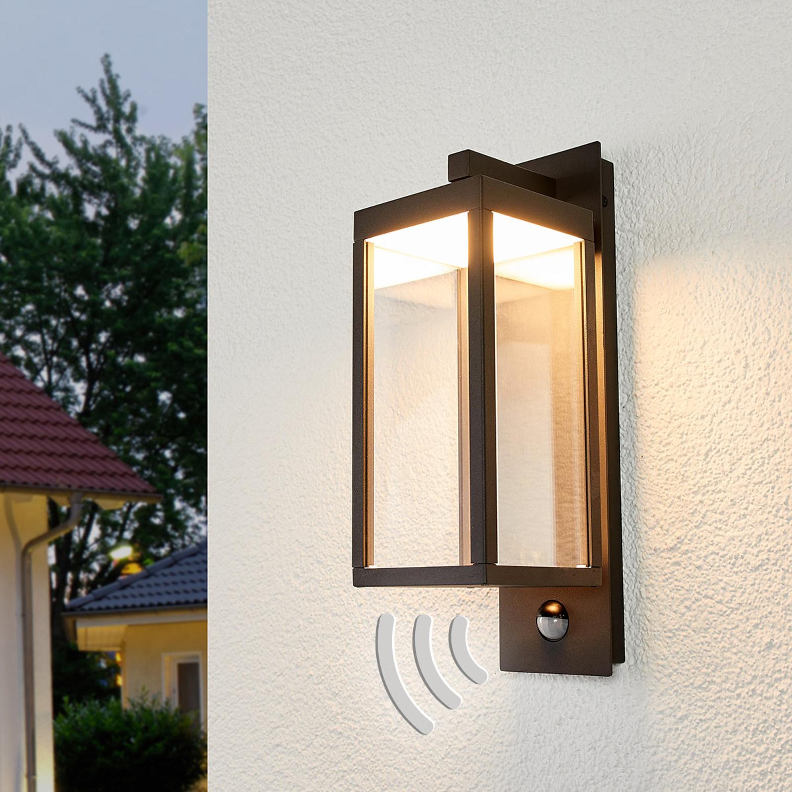 Utevegglampe Ferdinand med bevegelsesdetektor, LED