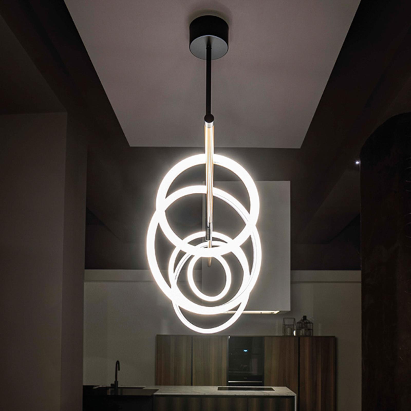 LED-Hängeleuchte Ulaop, fünf Ringe