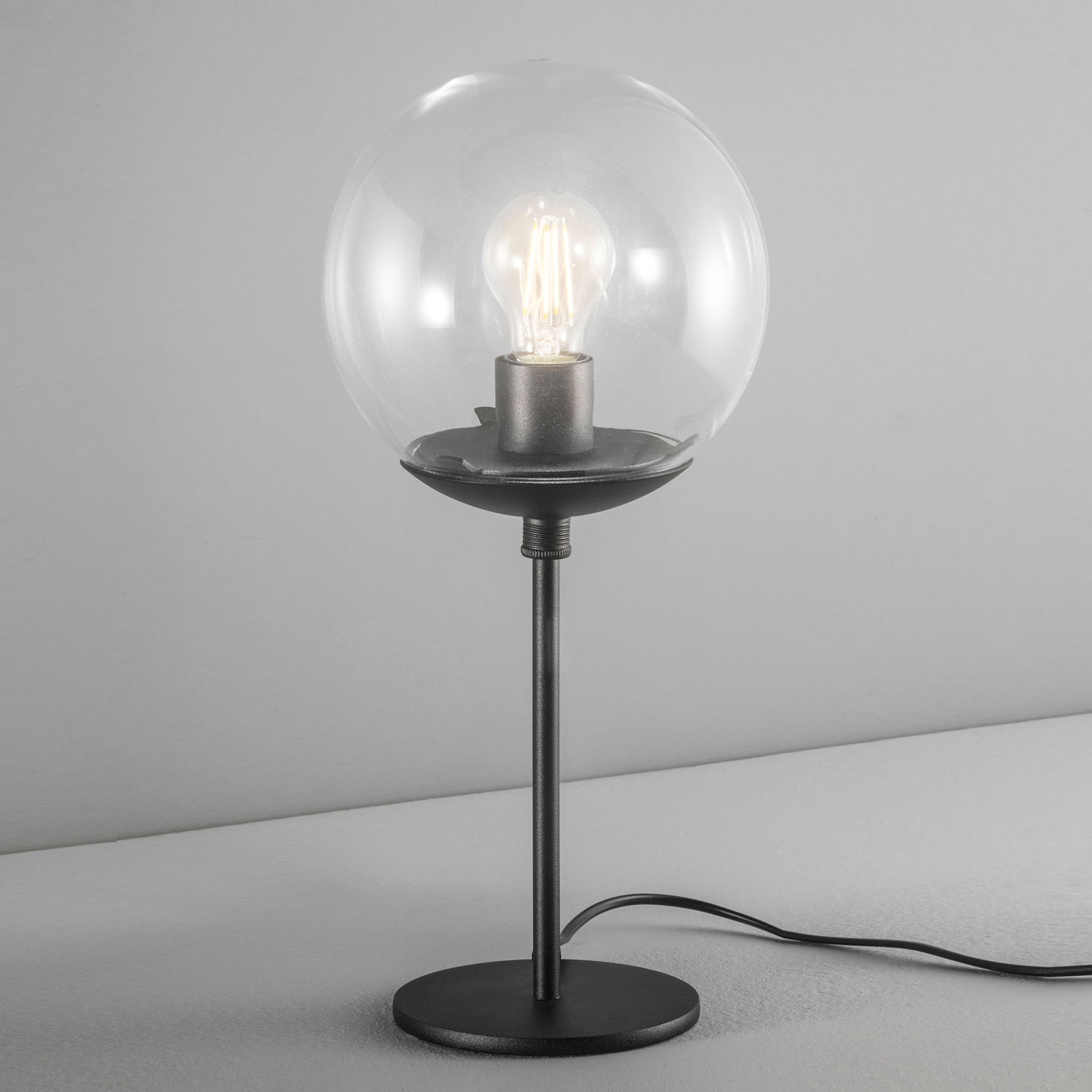 Lampa stołowa Global Ø 20 cm czarna
